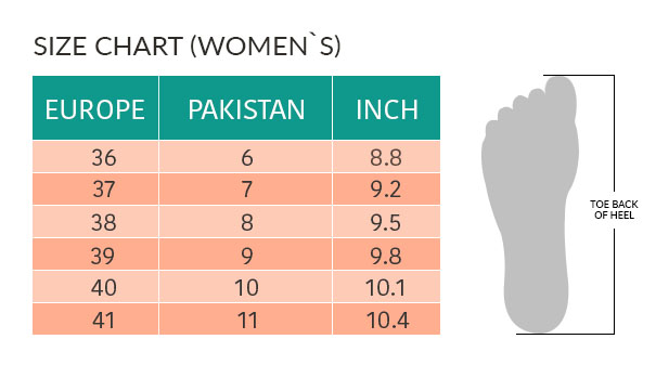 e4be5fcc Aerothotic Pakistan - Footwear size guide - Size Chart Sandals
